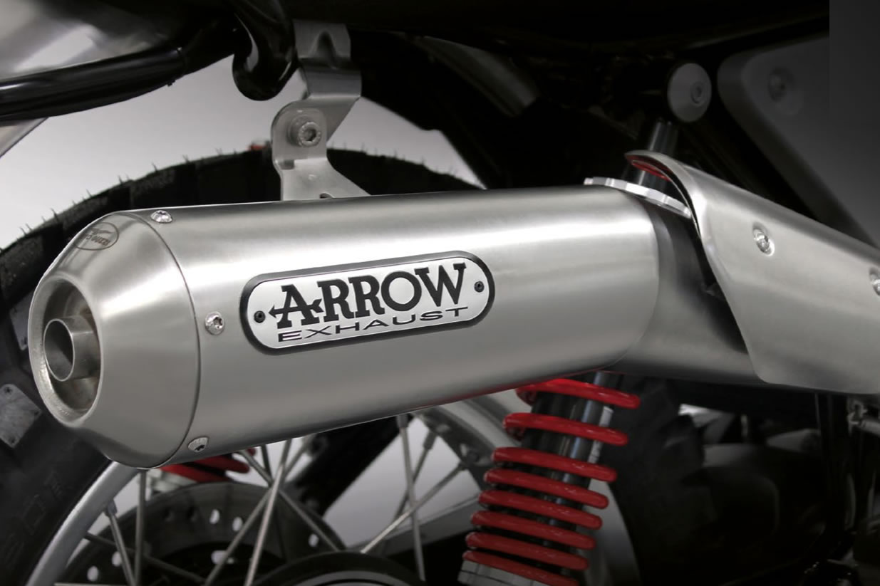 Arrow High Exhaust Moto Guzzi V7 Iii Stone Midland Scooter